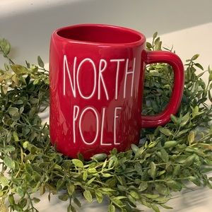 Rae Dunn Red North Pole Mug New 2019 UFS.